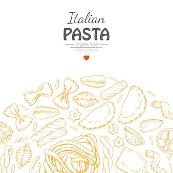 Sfondo con pasta italiana