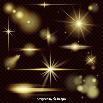 Sfondo con raccolta di effetti di luce