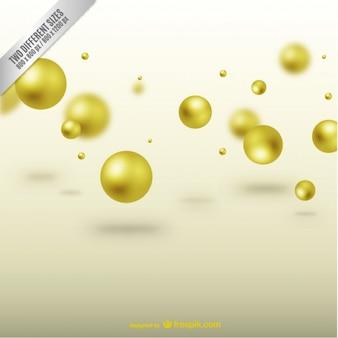 Sfondo con sfere d'oro