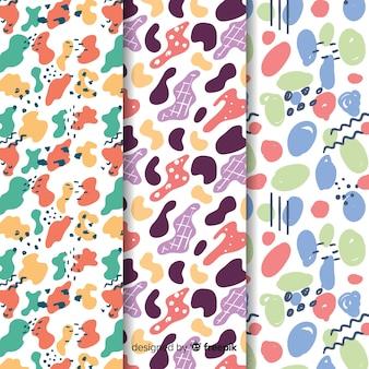 Sfondo con sorteggio collezione di pattern