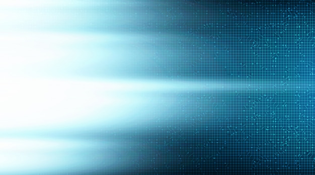 Sfondo con tecnologia speed light on circuit microchip