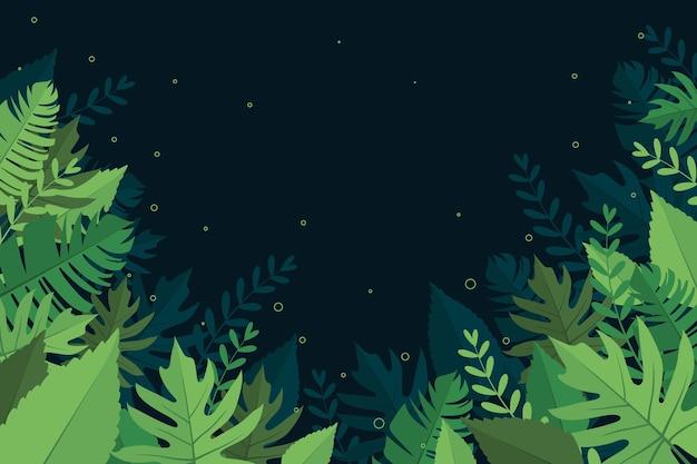 Sfondo con tema di foglie tropicali