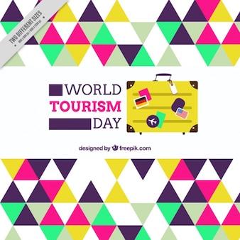Sfondo con triangoli colorati per il giorno di turismo