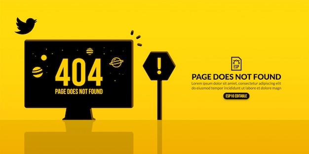 Sfondo connessione persa, pagina di errore 404 non trovata