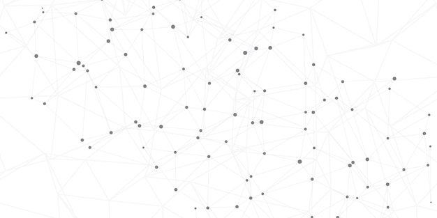 Sfondo connessioni di rete con punti e linee di collegamento