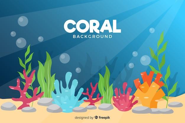 Sfondo corallo piatto