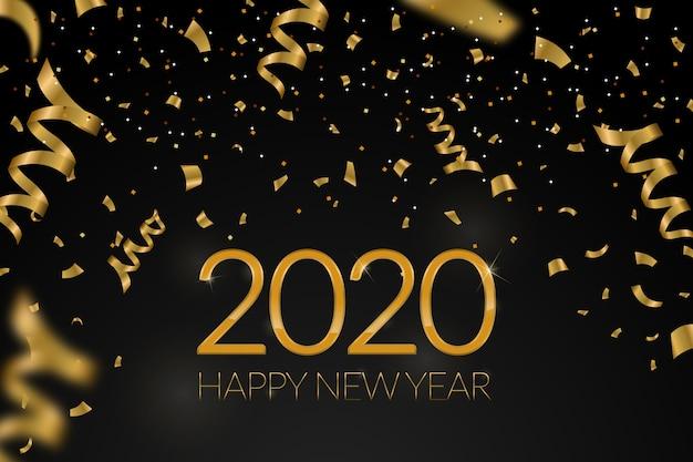 Sfondo coriandoli nuovo anno 2020