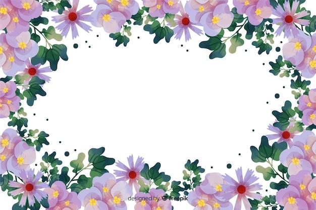 Sfondo cornice botanica dell'acquerello