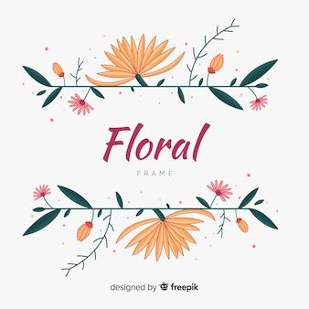 Sfondo cornice floreale disegnata a mano