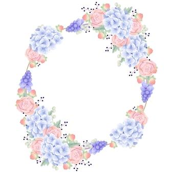 Sfondo cornice floreale