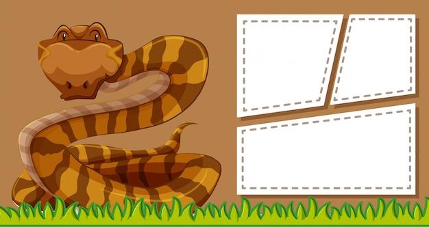 Sfondo cornice marrone serpente