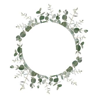 Sfondo cornice verde eucalipto
