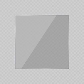 Sfondo cornice vetro abbagliante. illustrazione