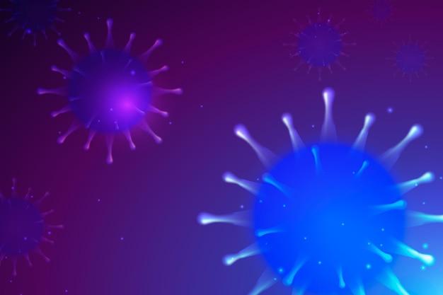 Sfondo coronavirus realistico