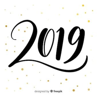 Sfondo creativo lettering 2019