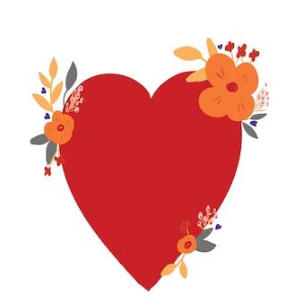 Sfondo cuore floreale