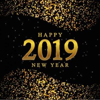 Sfondo d'oro del nuovo anno