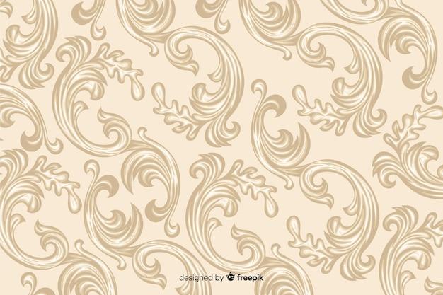 Sfondo damascato decorativo disegnato a mano