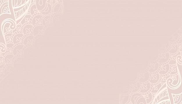 Sfondo decorativo color pastello con design etnico