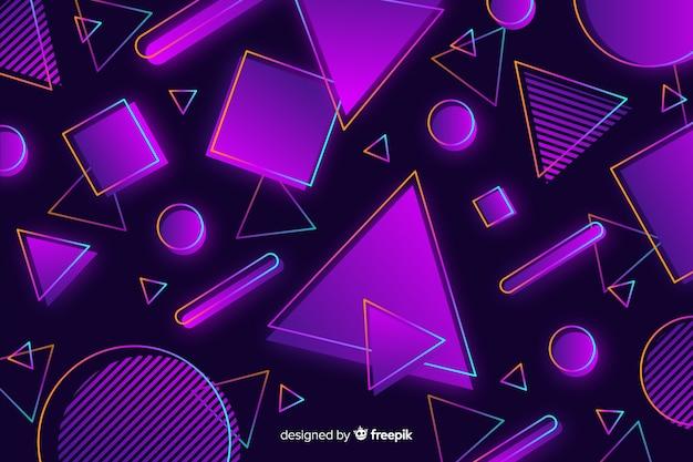 Sfondo decorativo colorato geometrico anni '80