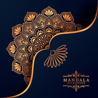 Sfondo decorativo con un elegante design mandala di lusso