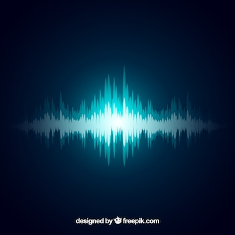 Sfondo decorativo di onde sonore blu