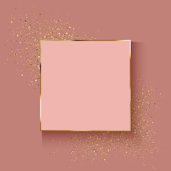 Sfondo decorativo in oro rosa con effetto glitter
