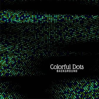 Sfondo decorativo moderno punti colorati