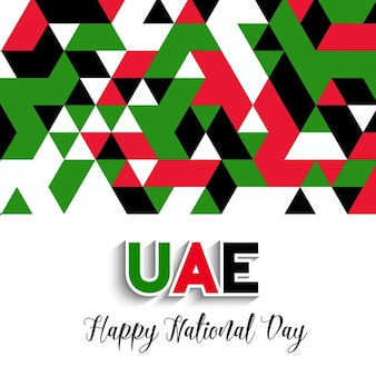Sfondo decorativo stile geometrico per la giornata nazionale degli emirati arabi uniti celebrazione