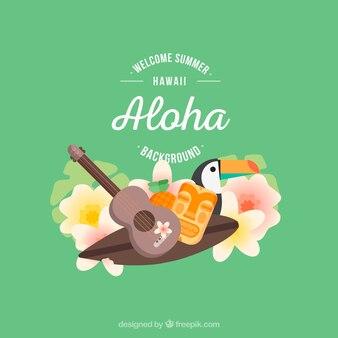 Sfondo degli elementi toucani e hawaiani
