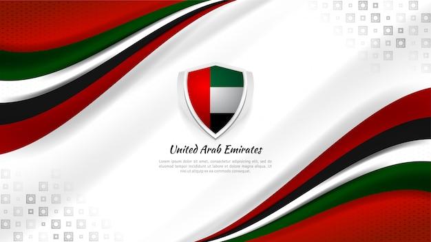 Sfondo degli emirati arabi uniti per il giorno della nazione