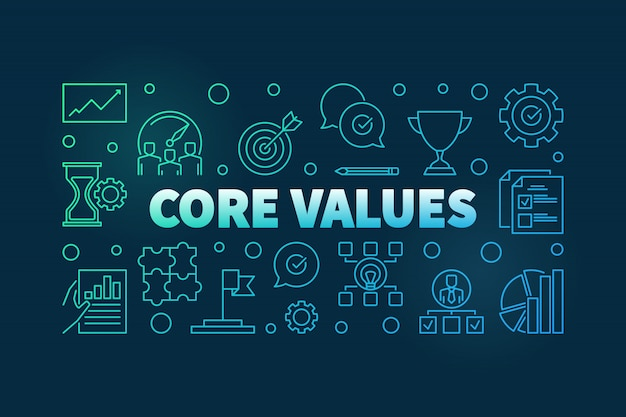Sfondo dei valori fondamentali