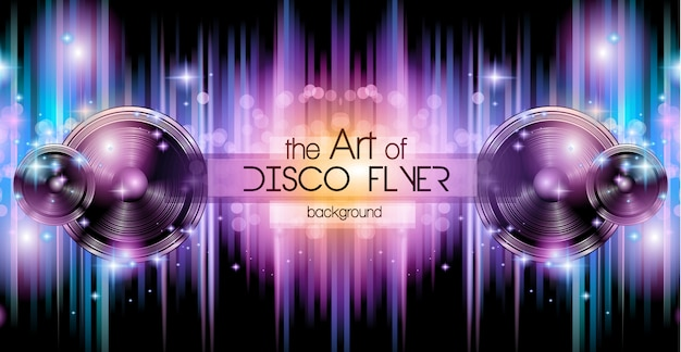 Sfondo del banner disco club per music nights event.