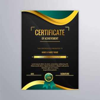 Sfondo del certificato moderna