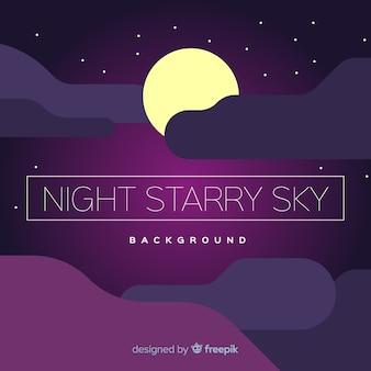 Sfondo del cielo notturno