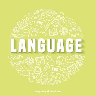 Sfondo del concetto di lingua