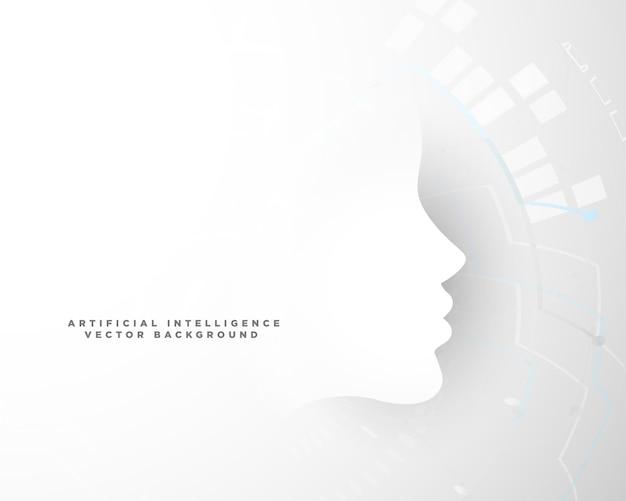 Sfondo del concetto di tecnologia con forma del viso