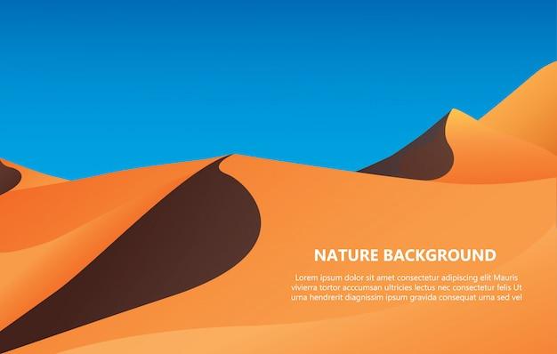 Sfondo del deserto con il vettore dello spazio del testo