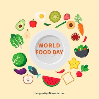 Sfondo del giorno alimentare mondiale