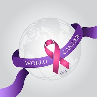 Sfondo del giorno del cancro mondiale semplice