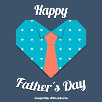 Sfondo del giorno del padre con cuore e cravatta