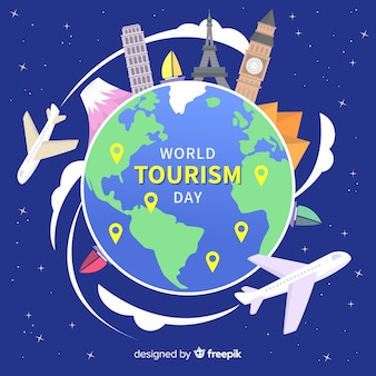 Sfondo del giorno del turismo mondiale