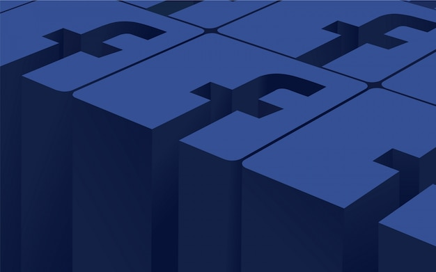 Sfondo del logo di facebook