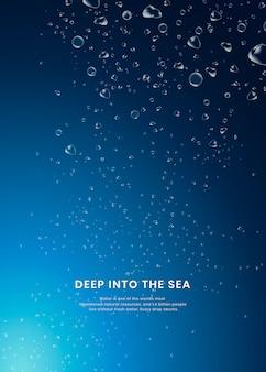 Sfondo del mare profondo