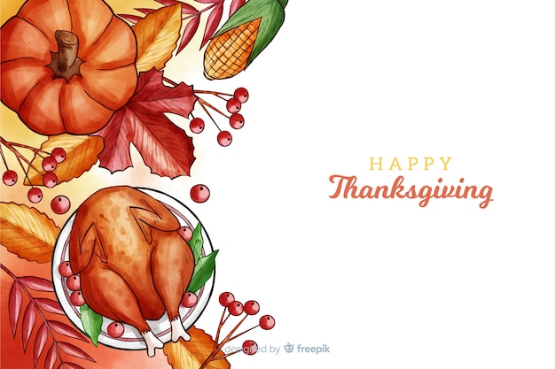 Sfondo del ringraziamento in acquerello
