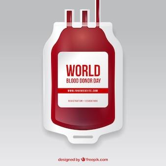 Sfondo del sacchetto di sangue per il giorno del donatore