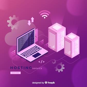 Sfondo del servizio di hosting