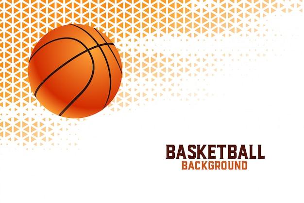 Sfondo del torneo di basket campionato con motivi a triangolo