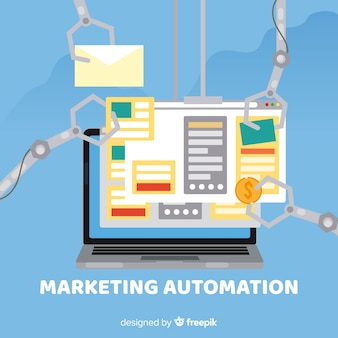 Sfondo dell'automazione del marketing