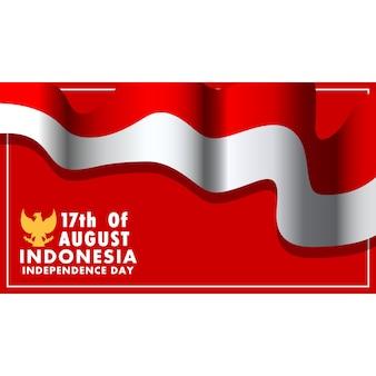 Sfondo dell'indipendenza dell'indonesia